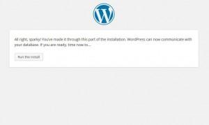 Last screen in the manual WordPress installation process.