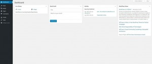 WordPress Dashboard Home Page for the Editor Role
