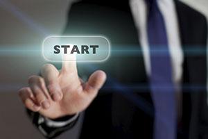 Start Button for building a website